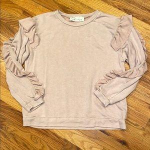 Vintage havana ruffle sweatshirt